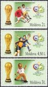 Moldova 2006 Football World Cup Championships/ WC/ Soccer/ Sports/ Games 3v set (n16732)