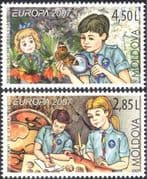 Moldova 2007 Europa/ Scouts Centenary/ Scouting 100th Anniv./ Butterflies/ Youth 2v set (n35447)