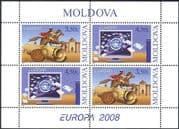 Moldova 2008 Europa/ The Letter/ Messenger/ Horse/ Rider/ Scroll/ Computer/ Communication 4v shtlt (n44414)