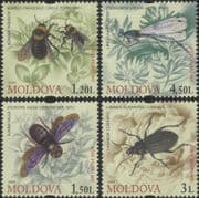 Moldova 2009  Bees/ Beetle/ Damselfly/ Insects/ Nature/ Conservation   4v set (md1029)