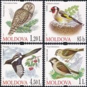Moldova 2010 Ural Owl/ Magpie/ Goldfinch/ Sparrow/ Birds/ Raptors/ Nature/ Wildlife  4v set (n37581)