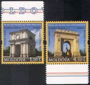 Moldova 2011 Diplomacy/ Diplomatic Relations/ Gates/ Arch/ Buildings/ Architecture/ Sculpture 2v set n41647