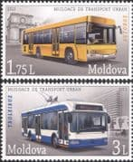 Moldova 2013  Trolley Bus/ Coach/ Public Transport/ Motoring/ Motors  2v set (md1027)
