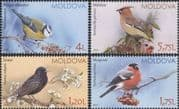 Moldova 2015  Waxwing/ BlueTit/ Starling/ Bullfinch/ Birds/ Nature/ Wildlife   4v set (md1032)