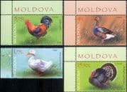 Moldova 2018 Chicken/ Turkey/ Geese/ Duck/ Poultry/ Birds/ Nature 4v set (md1022)