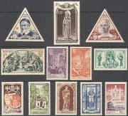 Monaco 1951 Holy Year  /  Pope Pious  /  Church  /  Saint  /  Art  /  Religion  /  People 12v set n39107