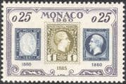 Monaco 1960 First Stamps/ Stamp-on-Stamp/ S-on-S/ Philately/ Heritage 1v (n43791)