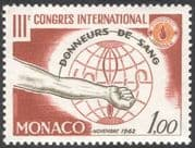 Monaco 1962 Blood Donors/ Medical/ Health/ Welfare/ Donation/ Hand 1v (n32323)