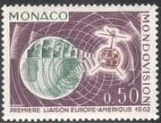 "Monaco 1963 ""Telstar""/ Space/ Satellite/ Telecommunications/ Communications/ Television/ TV Link-up 1v (n32322)"