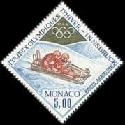Monaco 1964 Olympic Games/ Winter Sports/ Olympics/ Bobsleigh/ 2-man Bob 1v (n43899)