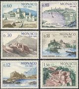 Monaco 1965 Royal Palace 750th Anniversary/ Buildings/ Architecture/ Heritage/ History 6v set (n43735)