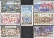 Monaco 1973 Maypole/ Fire-dance/ Dancing/ Procession/ Traditions/ Festivals 7v set (n43140)