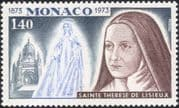 Monaco 1973 St Theresa of Lisieux/ Saints/ People/ Church/ Building/ Architecture 1v (n45218)