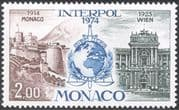 Monaco 1974 Interpol/ Police/ Law/ Order/ Buildings/ Architecture 1v (n43661)