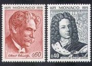 Monaco 1975 Schweitzer  /  Medical  /  Nobel  /  Saint-Simon  /  Writers  /  People 2v set (n39506)