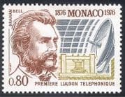 Monaco 1976 A Graham Bell  /  Telephone  /  Communications  /  People  /  Inventors 1v (n40339)
