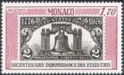 Monaco 1976 American Revolution 200th Anniversary/ Bicentenary/ / Liberty Bell/ S-on-S/ Stamp-on-Stamp 1v (n43763)