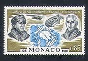 Monaco 1976 Arctic  /  Explorers  /  Plane  /  Airship  /  Aircraft  /  Transport  /  People 1v (n33827)