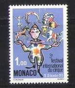 Monaco 1976 Clowns  /  Circus  /  Animation  /  People  /  Lion  /  Horse  /  Elephant 1v (n27197)