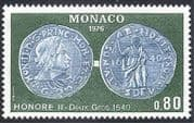Monaco 1976 Coins  /  Money  /  Currency  /  Commerce  /  Business  /  History 1v (n40332)