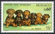 Monaco 1976 Dogs  /  Dachshunds  /  Animals  /  Nature  /  Pets 1v (n18669)