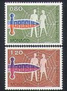 Monaco 1976 Drugs  /  Health  /  Medical  /  Welfare  /  Dagger 2v set (n34447)