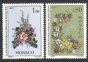 Monaco 1976 Flowers  /  Nature  /  Plants  /  Art  /  Flower Show 2v set (n34185)