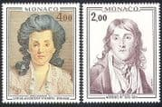 Monaco 1976 Prince  /  Princess  /  Royalty  /  Royal  /  Art  /  Paintings  /  People 2v set (n40299)