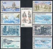 Monaco 1977 Boats  /  Sailing  /  Transport  /  Arctic  /  Polar  /  Exploration  /  Royalty 9v (n33517)