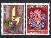 Monaco 1977 Flowers  /  Plants  /  Nature  /  Art  /  Flower Show 2v set (n33860)