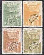 Monaco 1977 Pre-cancels  /  Palace Clock Tower  /  Buildings  /  Architecture 4v set n39104