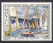 Monaco 1977 Raoul Dufy  /  Boats  /  Yachts  /  Art  /  Paintings  /  Artists  /  People 1v (n34361)