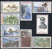 Monaco 1977 Ships  /  Sailing  /  Transport  /  Nautical  /  Royalty  /  Fish  /  Lighthouse 9v (n33508)