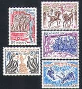 Monaco 1978 Circus  /  Lions  /  Horses  /  Monkeys  /  Animals  /  Animation 5v set (n32795)
