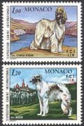 Monaco 1978 Dogs  /  Afghan  /  Borzoi  /  Nature  /  Animals  /  Pets 2v set (n18671)