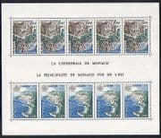 Monaco 1978 Europa  /  Cathedral  /  Buildings 10v sht (n32332)