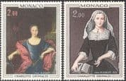 Monaco 1978 Prince/ Princess/ Royalty/ Royal/ Art/ Paintings/ People 2v set (n43838)