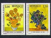 Monaco 1978 Vincent van Gogh  /  Flowers  /  Art  /  Painting  /  People  /  Artists 2v set (n33839)