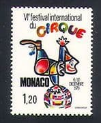 Monaco 1979 Clowns  /  Circus  /  Festival  /  Animation 1v (n32796)