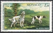 Monaco 1979 Dogs  /  Setter  /  Pointer  /  Animals  /  Nature  /  Pets 1v (n18672)