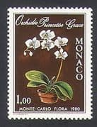 Monaco 1979 Flowers  /  Plants  /  Nature  /  Orchids 1v (n343557)