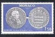 Monaco 1980 Coins  /  Money  /  Currency  /  Commerce  /  Business  /  History 1v (n38557)