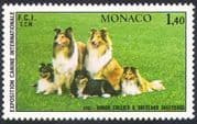 Monaco 1981 Dogs  /  Collies  /  Animals  /  Nature  /  Pets  /  Sheepdogs 1v (n18674)