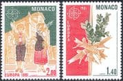 Monaco 1981 Europa/ Easter/ Church/ Palm Cross/ Holiday/ Festival/ Buildings/ Architecture 2v set (n43989)