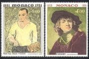 Monaco 1981 Picasso  /  Rembrandt  /  Artists  /  Paintings  /  Art  /  Portraits  /  People 2v (n40289)