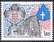 Monaco 1982 Cathedral/ Coat-of-Arms/ Church/ Building/ Architecture 1v (n43164)