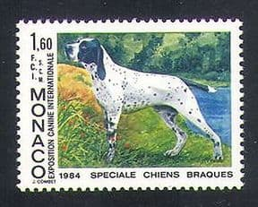 Monaco 1984 Auvergne Pointer  /  Dogs  /  Animals  /  Nature  /  Pets 1v (n35024)