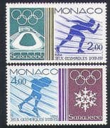 Monaco 1984 Winter Olympic Games  /  Olympics  /  Sports  /  Skating 2v set (n34201)