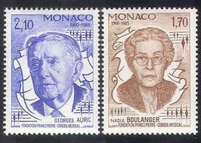 Monaco 1985 Auric  /  Boulanger  /  Music  /  Composers  /  Competition  /  People 2v set (n39295)