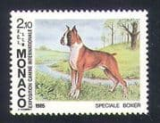 Monaco 1985 Boxer  /  Dogs  /  Animals  /  Nature  /  Pets 1v (n35020)